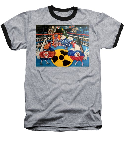 The Chickens Fight Baseball T-Shirt