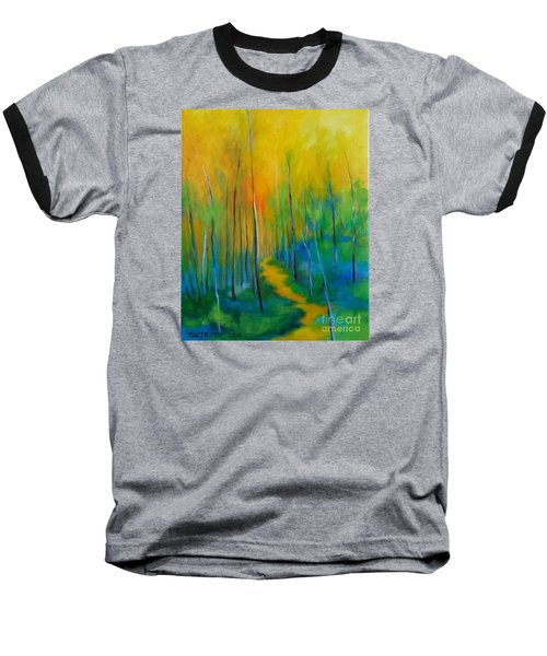 Baseball T-Shirt featuring the painting The Chosen Path  by Alison Caltrider