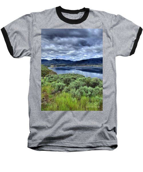 The City And The Clouds Baseball T-Shirt