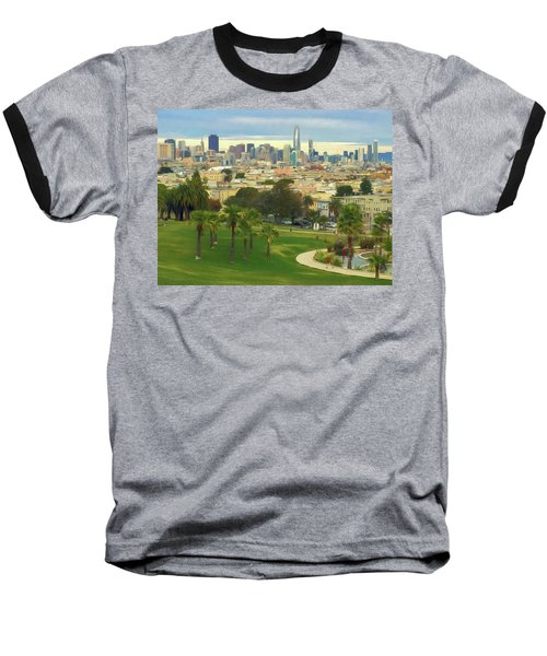 The City From Dolores Park Baseball T-Shirt