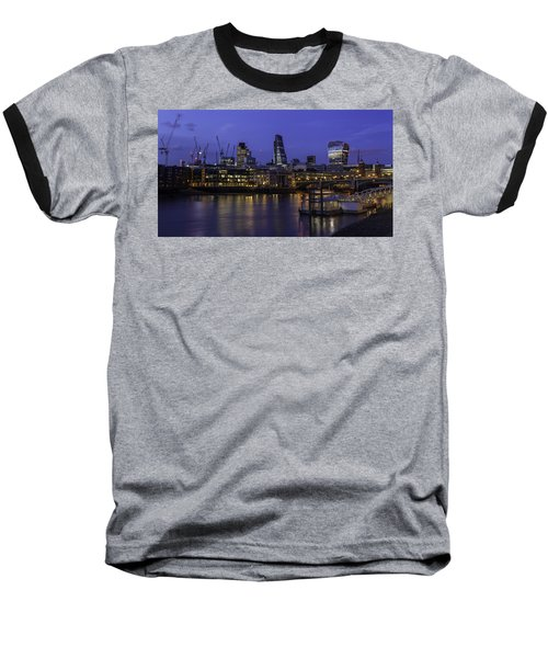 The City From The Southbank Baseball T-Shirt