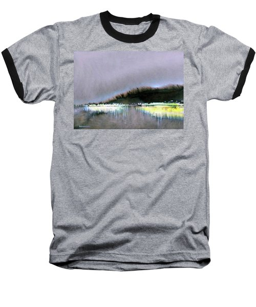 Baseball T-Shirt featuring the painting The City Lights by Ed Heaton