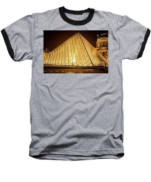 The City Of Paris At Night Baseball T-Shirt