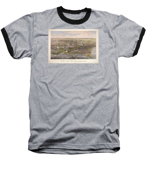 The City Of Washington Baseball T-Shirt by Charles Richard Parsons