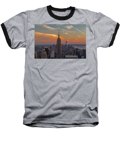 The City That Never Sleeps  Baseball T-Shirt by Anthony Fields