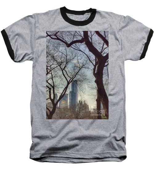 The City Through The Trees Baseball T-Shirt