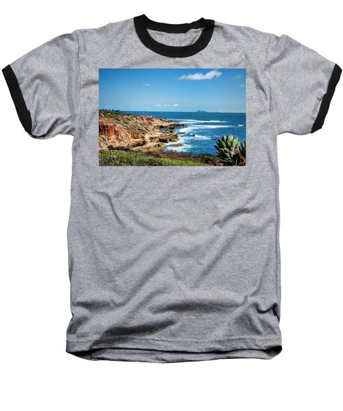 The Cliffs Of Point Loma Baseball T-Shirt by Daniel Hebard