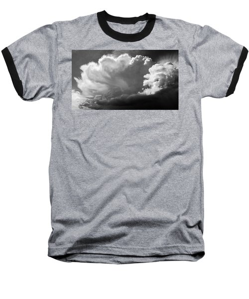 The Cloud Gatherer Baseball T-Shirt by John Bartosik