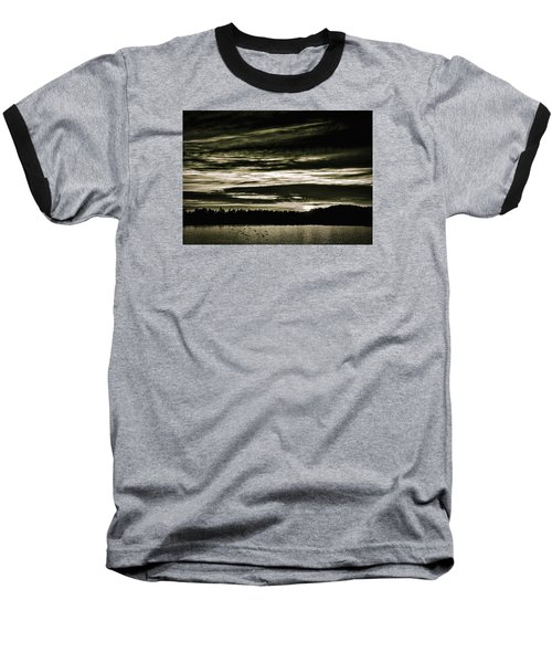 The Coast At Night Baseball T-Shirt