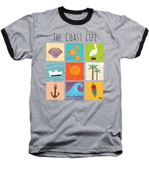 The Coast Life Baseball T-Shirt by Kevin Putman