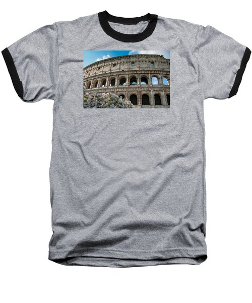 Baseball T-Shirt featuring the photograph The Coliseum In Rome by Kathleen Scanlan