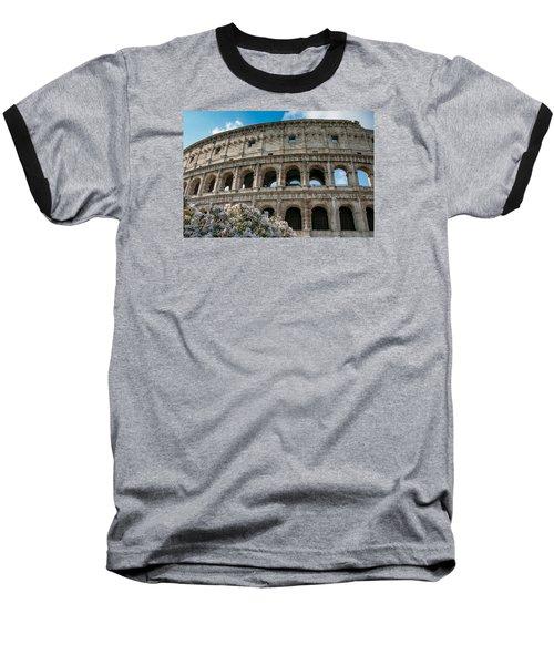 The Coliseum In Rome Baseball T-Shirt