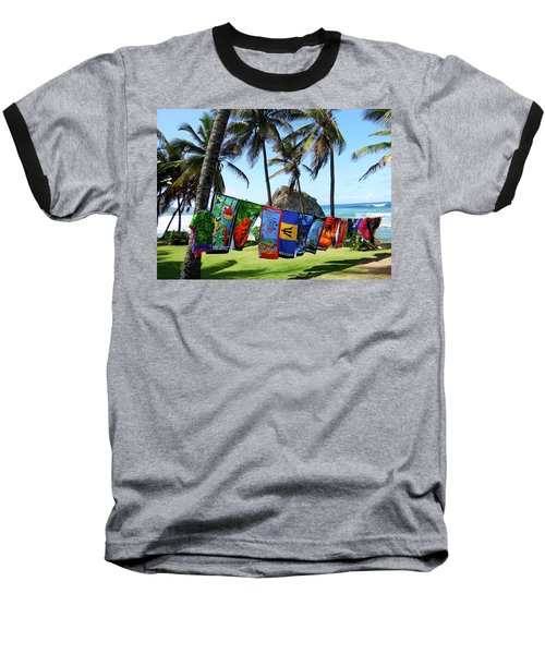 Baseball T-Shirt featuring the photograph The Colors Of Barbados by Kurt Van Wagner