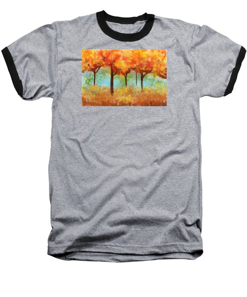 Baseball T-Shirt featuring the painting The Colors Of New Hampshire by Patricia Arroyo