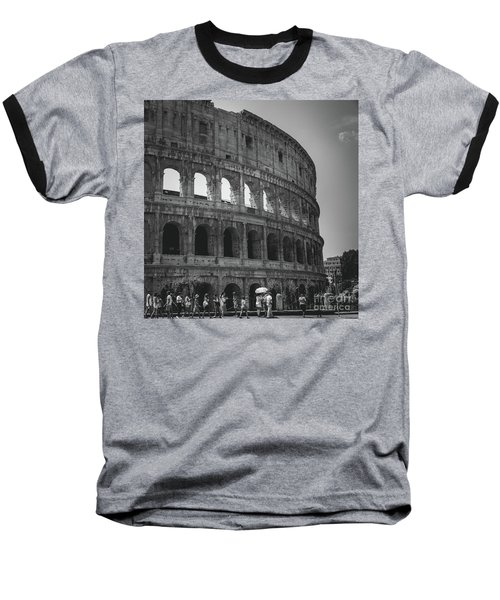 Baseball T-Shirt featuring the photograph The Colosseum, Rome Italy by Perry Rodriguez