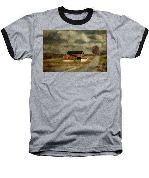 Baseball T-Shirt featuring the digital art The Coming On Of Winter by Lois Bryan
