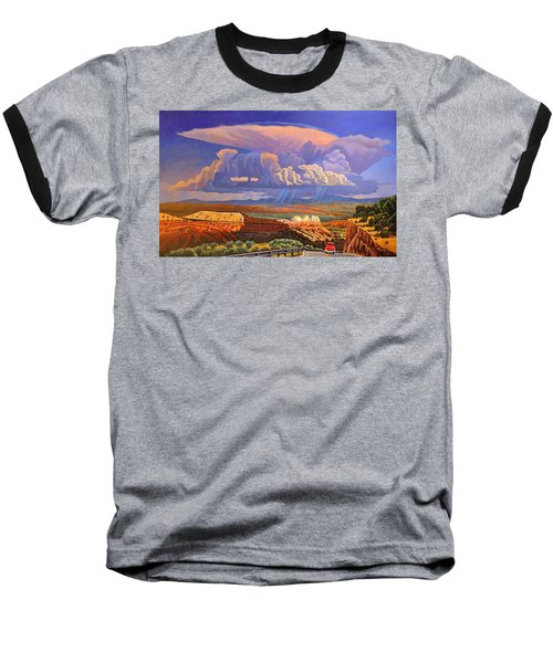 Baseball T-Shirt featuring the painting The Commute by Art West