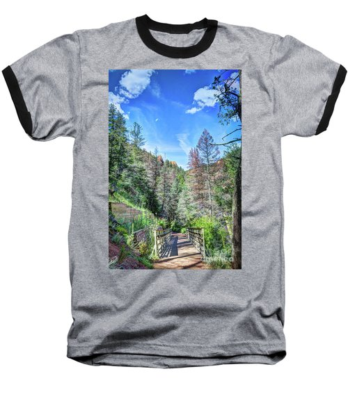 Baseball T-Shirt featuring the photograph The Connection by Deborah Klubertanz