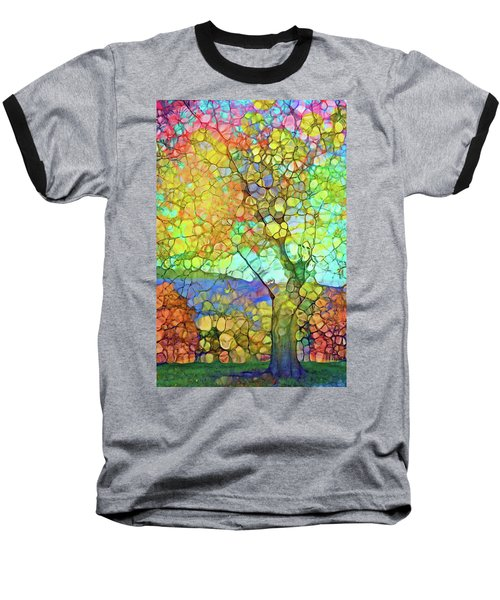 Baseball T-Shirt featuring the digital art The Contagious Laughter Of Trees by Tara Turner