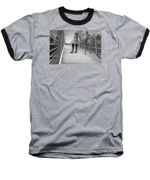 Baseball T-Shirt featuring the photograph The Conversation by Wade Brooks