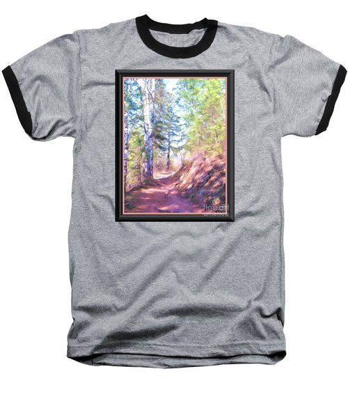 Baseball T-Shirt featuring the photograph The Copper Path by Shirley Moravec