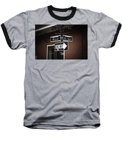 The Corner Of Royal And St. Ann, New Orleans, Louisiana Baseball T-Shirt