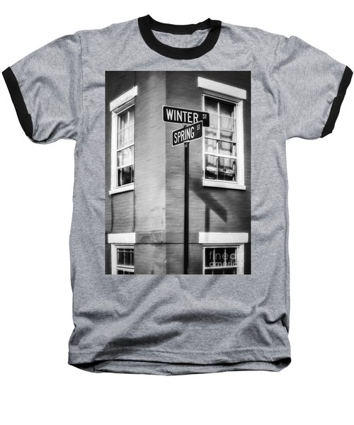 The Corner Of Winter And Spring Bw Baseball T-Shirt