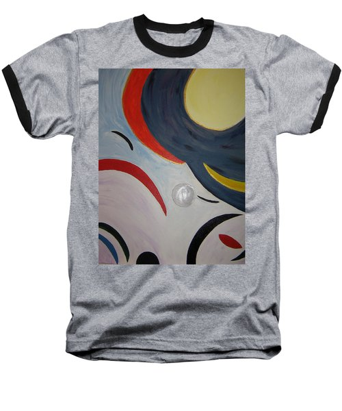 Baseball T-Shirt featuring the painting The Cosmos by Barbara Yearty