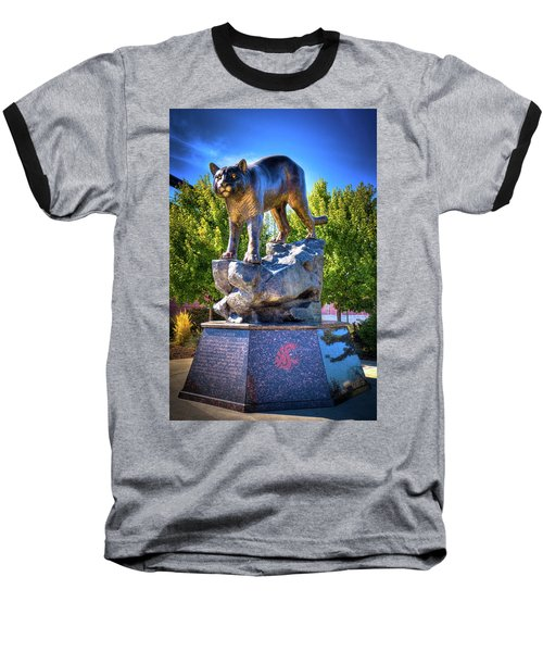 The Cougar Pride Sculpture Baseball T-Shirt