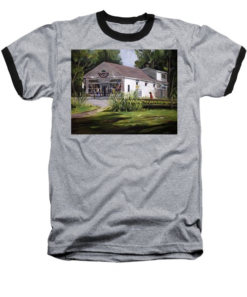 Baseball T-Shirt featuring the painting The Country Store by Nancy Griswold