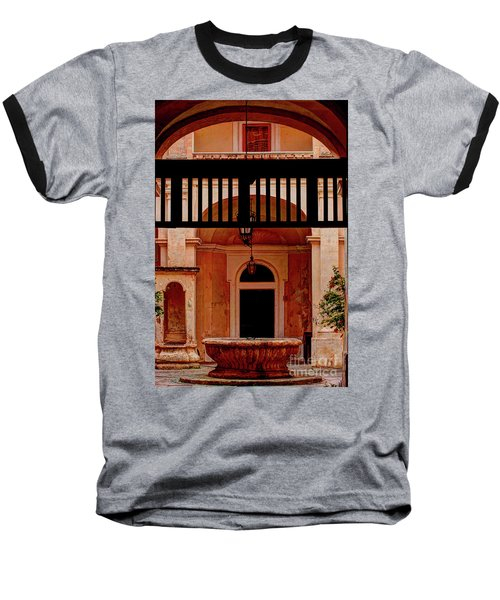 The Court Yard Malta Baseball T-Shirt by Tom Prendergast