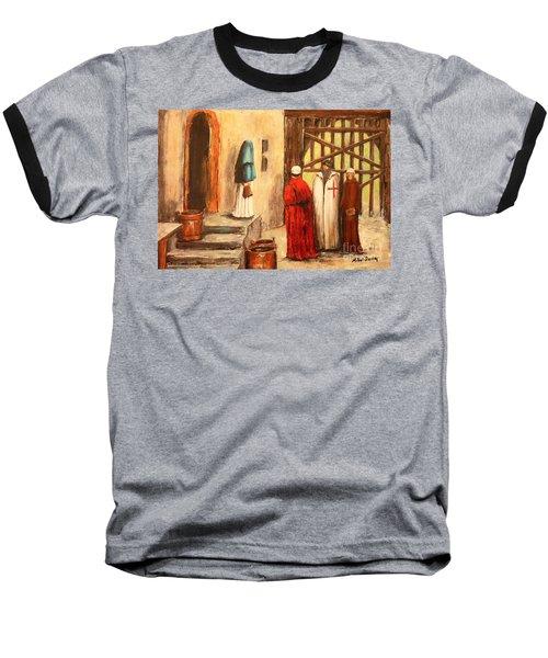 The Courtyard Conversation Baseball T-Shirt
