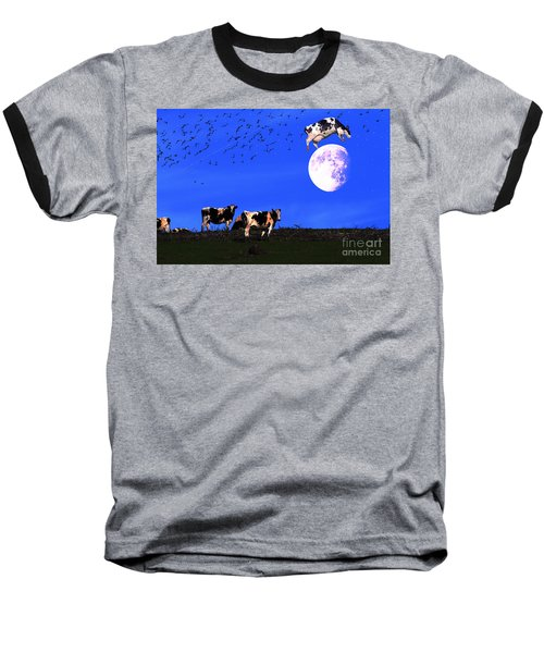 The Cow Jumped Over The Moon Baseball T-Shirt