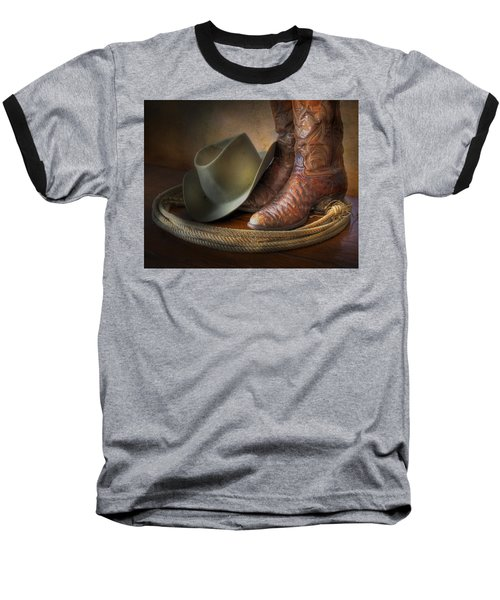 The Cowboy Boots, Hat And Lasso Baseball T-Shirt
