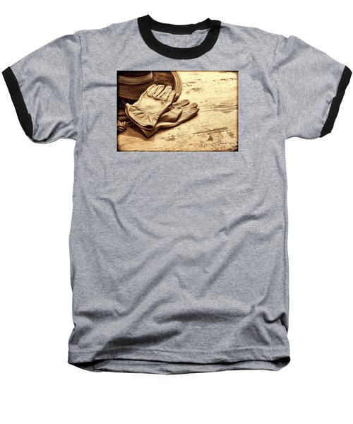 The Cowboy Gloves Baseball T-Shirt by American West Legend By Olivier Le Queinec