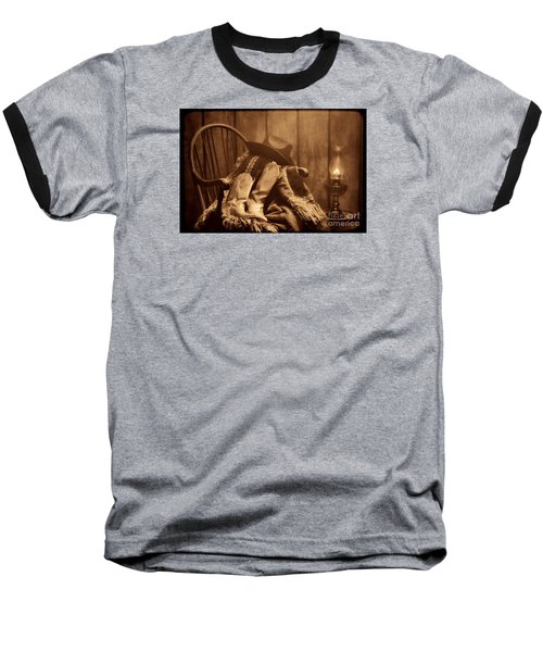The Cowgirl Rest Baseball T-Shirt by American West Legend By Olivier Le Queinec