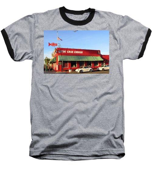The Crab Cooker In Balboa Park Newport Beach California Baseball T-Shirt