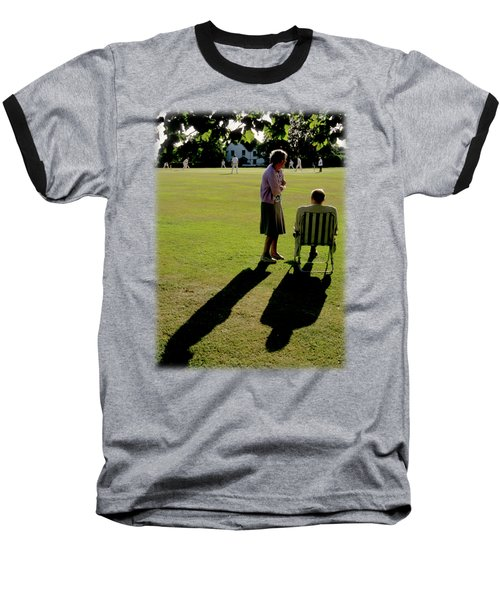 The Cricket Match Baseball T-Shirt by Jon Delorme
