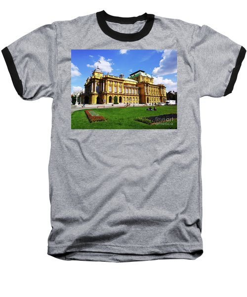 The Croatian National Theater In Zagreb, Croatia Baseball T-Shirt