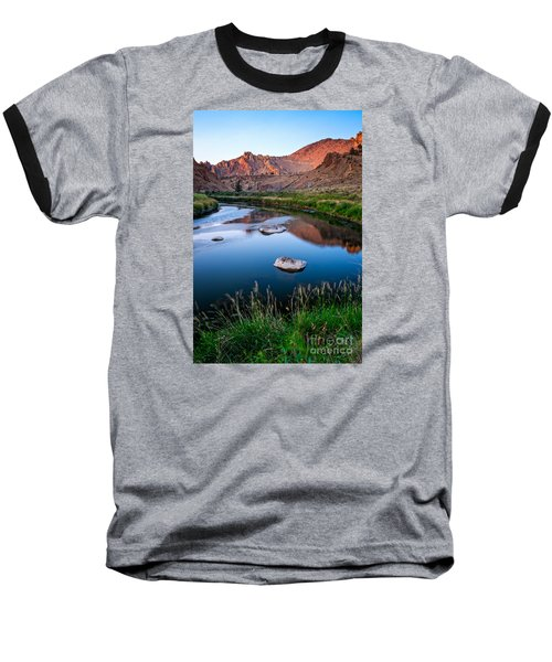 The Crooked River Runs Through Smith Rock State Park  Baseball T-Shirt