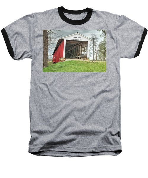 Baseball T-Shirt featuring the photograph The Crooks Covered Bridge by Harold Rau
