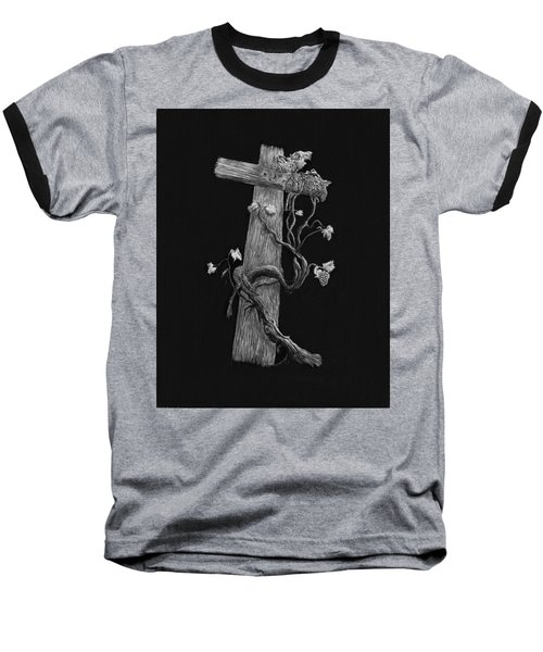 The Cross And The Vine Baseball T-Shirt