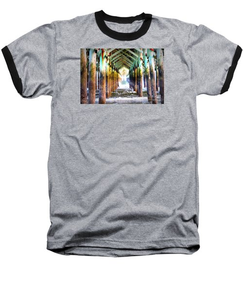 Baseball T-Shirt featuring the photograph The Cross Before Us by Shelia Kempf