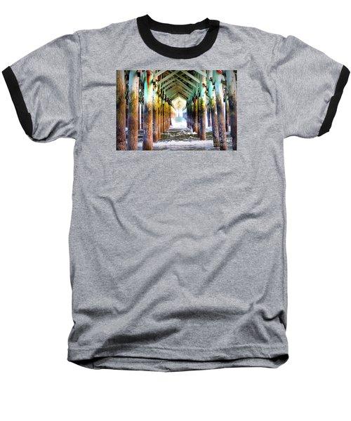The Cross Before Us Baseball T-Shirt by Shelia Kempf
