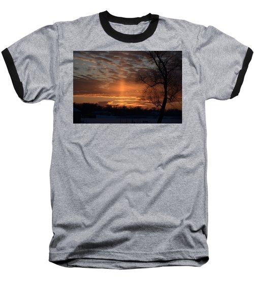 The Cross In The Sunset Baseball T-Shirt
