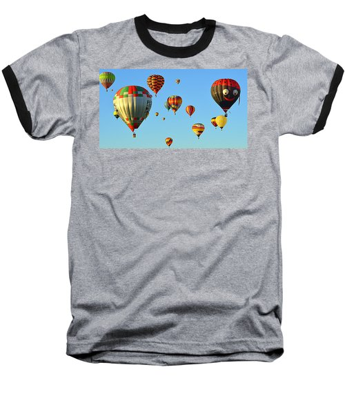 Baseball T-Shirt featuring the photograph The Crowded Skies by AJ Schibig