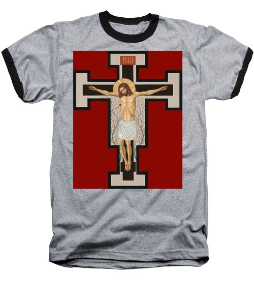 The Crucified Lord 017 Baseball T-Shirt by William Hart McNichols