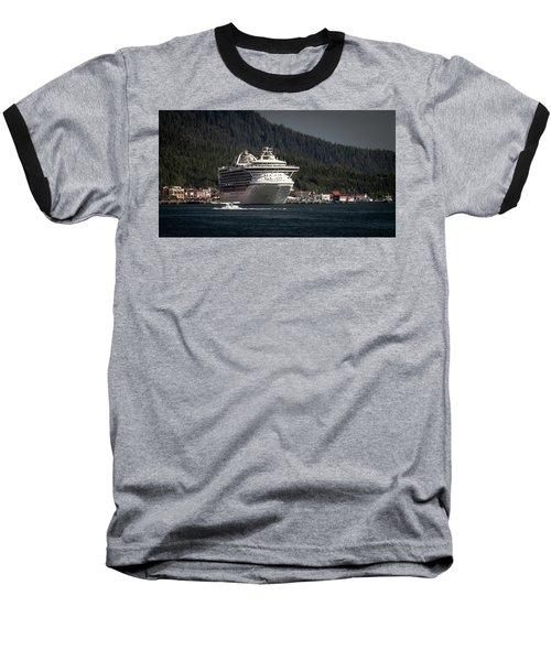 The Cruise Ship And The Plane Baseball T-Shirt