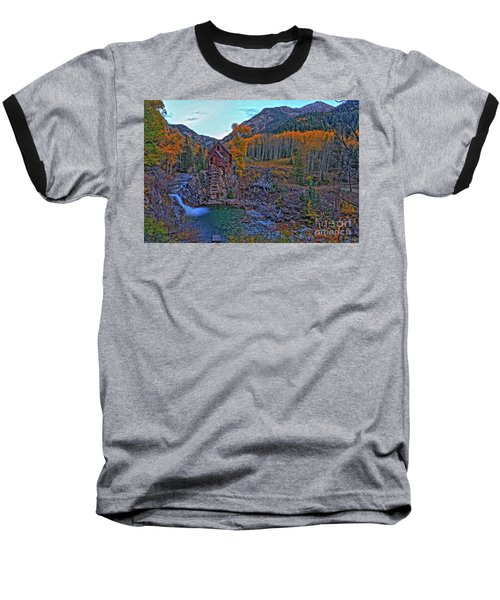 Baseball T-Shirt featuring the photograph The Crystal Mill by Scott Mahon