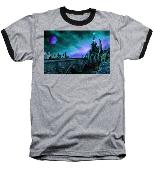 Baseball T-Shirt featuring the painting The Crystal Palace - Nightwish by James Christopher Hill